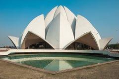 Lotus Temple - Delhi - l'India immagini stock libere da diritti