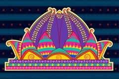 Lotus Temple in der indischen Kunstart Lizenzfreie Stockfotos