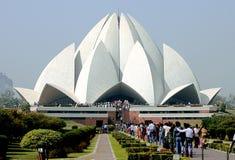 Lotus Temple en la India fotos de archivo libres de regalías