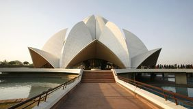 Lotus temple in the evening sky Royalty Free Stock Images
