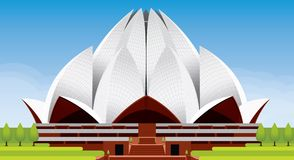 Lotus Temple Illustration Arkivbilder