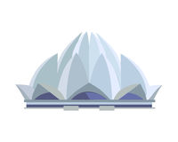 Lotus Temple Illustration im flachen Design Lizenzfreies Stockfoto
