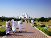 Lotus temple - India. The lotus temple in New Delhi - India royalty free stock image
