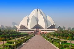 Lotus Temple, India. The Lotus Temple, located in New Delhi, India, is a Bahai House of Worship stock image