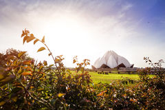 Lotus Temple in India Royalty Free Stock Photo