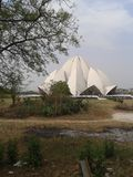 Lotus temple, India. A view of a modern monument in New Delhi,  Asia Royalty Free Stock Image