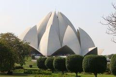 Lotus Temple - le temple principal de la religion de Bahai dans l'Inde Photos libres de droits