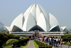 Lotus Temple in India royalty free stock photos