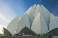 The Lotus Temple, located in New Delhi, India. Royalty Free Stock Photography
