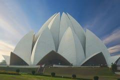 The Lotus Temple, located in New Delhi, India. Stock Photos