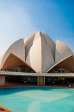 The Lotus Temple, located in New Delhi, India, is a Bahai House of Worship Stock Photos