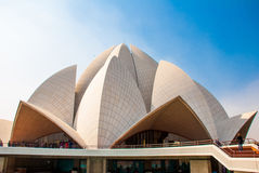 The Lotus Temple, located in New Delhi, India, is a Bahai House of Worship Stock Photo