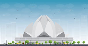 The Lotus Temple, located in New Delhi, India Stock Photo