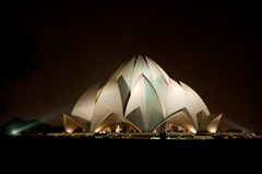 Lotus Temple in New Delhi Stock Photos