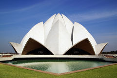 Lotus Temple, New Delhi. On the photo: Lotus Temple, New Delhi stock photo