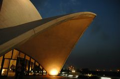 LOTUS TEMPLE IN NEW DELHI-INDIA. Royalty Free Stock Image