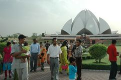 LOTUS TEMPLE IN NEW DELHI-INDIA. Stock Images