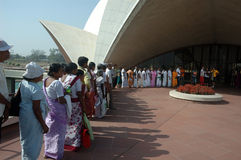 LOTUS TEMPLE IN NEW DELHI-INDIA Royalty Free Stock Photography