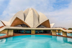 The Lotus Temple, New Delhi. India stock photos
