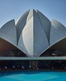 Lotus Temple, New Delhi, India Royalty-vrije Stock Fotografie