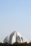 Lotus Temple of New Delhi, India. Lotus Temple of the Baha'i Religion. There is a large sky area that can be used as copy-space Royalty Free Stock Photo
