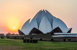 Lotus temple. In new delhi india royalty free stock images