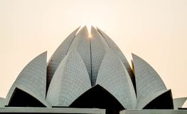 Lotus temple. In new delhi india stock photos