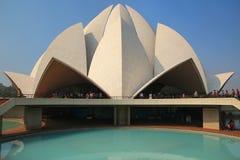 Lotus temple in New Delhi, India Stock Photo