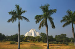 Lotus temple in New Delhi, India Royalty Free Stock Photography