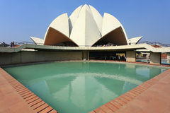 Lotus temple in New Delhi, India Stock Photo