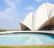 Lotus temple, New Delhi, India. On a sunny summer day royalty free stock image