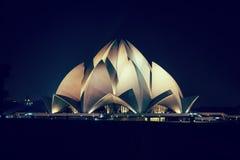 Lotus Temple New Delhi, la India imágenes de archivo libres de regalías