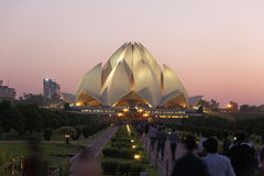Lotus Temple New Delhi, September 25,2011:Delhi.Bahai House of Worship,also called Lotus Temple was completed in 1986. Stock Photo