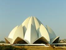 Lotus Temple, Nova Deli Foto de Stock Royalty Free