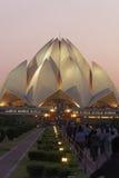 Lotus Temple på September 25,2011: Delhi Bahai hus av dyrkan som kallas också Lotus Temple arkivfoto