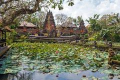 Lotus Temple with Pond, Ubud, Bali Stock Photos