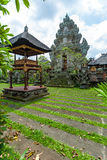 Lotus Temple with Pond, Ubud, Bali Stock Photo