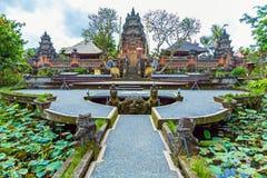 Lotus Temple with Pond, Ubud, Bali Stock Photography