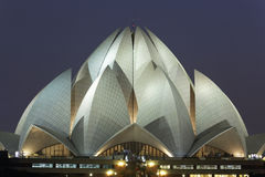 Lotus Temple on September 25,2011:Delhi.Bahai House of Worship,also called Lotus Temple. Stock Photo