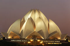 Lotus Temple on September 25,2011:Delhi.Bahai House of Worship,also called Lotus Temple. stock images