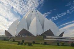 Lotus Temple, situada em Nova Deli, Índia Imagem de Stock