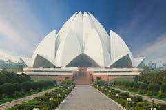 Lotus Temple, situada em Nova Deli, Índia Imagens de Stock