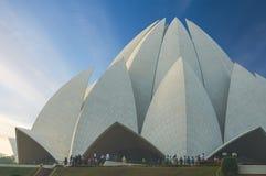 Lotus Temple, situada em Nova Deli, Índia Fotografia de Stock Royalty Free