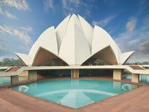 Lotus Temple som lokaliseras i New Delhi, Indien Fotografering för Bildbyråer