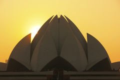 Lotus Temple at sunset, New Delhi Stock Images