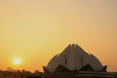 Lotus Temple at sunset, New Delhi Royalty Free Stock Images