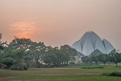Lotus Temple. At sunset, New Delhi, India stock photos