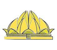 Lotus Temple-Vektorillustration Lizenzfreie Stockbilder
