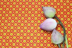 Lotus on Thai floor Stock Photo