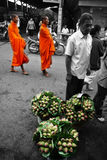 Monk lotus. Lotus ,traditional  flowers for paying respect to monk Royalty Free Stock Photos